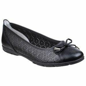 Lagune Flat Ballerina Shoe in Black