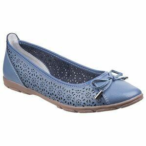 Lagune Flat Ballerina Shoe in Blue