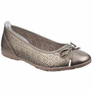 Lagune Flat Ballerina Shoe in Gold