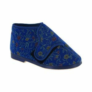 Bella Ladies Wide Fit Slipper in Blue