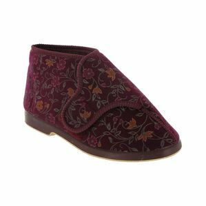 Bella Ladies Wide Fit Slipper in Wine