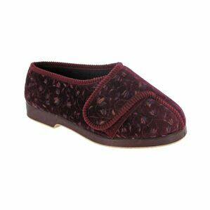Nola Extra Wide Fit Ladies Sli in Wine