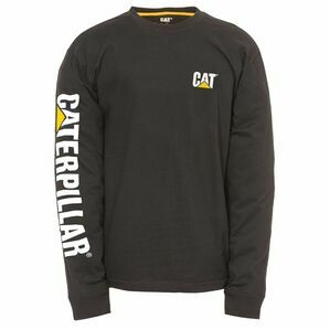 Caterpillar Trademark Banner Long Sleeve T-Shirt - Black