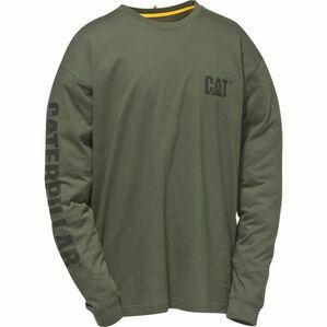 Caterpillar Trademark Banner Long Sleeve T-Shirt - Green