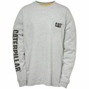 Caterpillar Trademark Banner Long Sleeve T-shirt - Grey