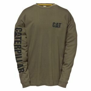 Caterpillar Trademark Banner Long Sleeve T-Shirt - Moss Green