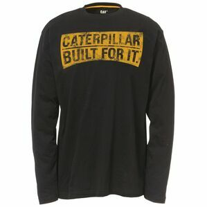 Caterpillar Banner Long Sleeve T-Shirt - Black