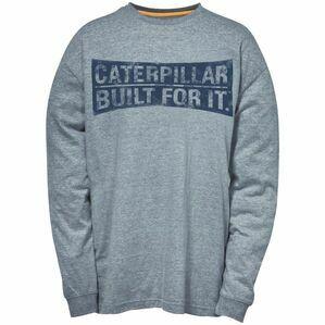 Caterpillar Banner Long Sleeve T-Shirt - Dark Grey