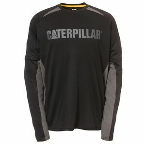Caterpillar Expedition Long Sleeve T-Shirt in Black
