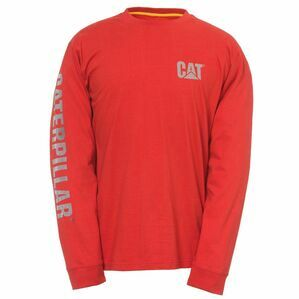 Caterpillar Custom Banner Long Sleeve T-Shirt - Red