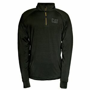 Caterpillar Contour 1/4 Zip Sweatshirt in Black