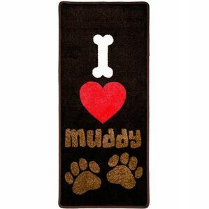 Pet Rebellion I Love Muddy Paws Dog Mat