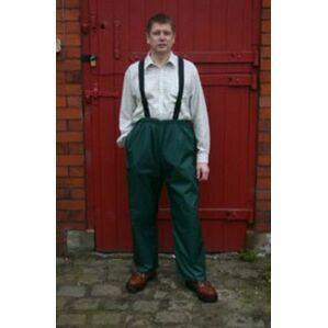 GDT Delamere Waterproof Brace Trousers - Green