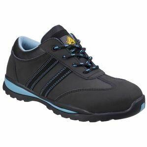 Amblers Safety AS713 Womens Lace Up Safety Tr in Black/Blue