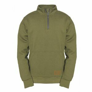 Caterpillar AG 1/4 Zip Pull Over Jumper in Cypress