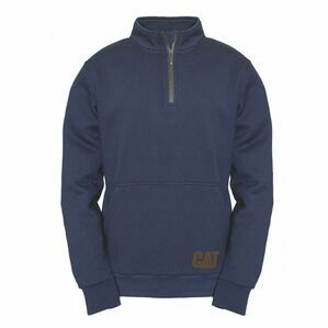 Caterpillar AG 1/4 Zip Pull Over Jumper in Eclipse
