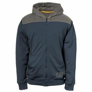 Caterpillar Contrast Yoke Zip Sweatshirt in Marine