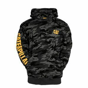Caterpillar Trademark Banner Hoodie in Night Camo
