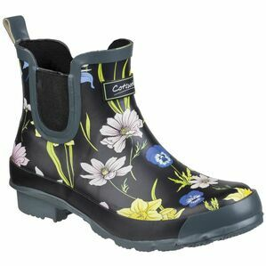 Cotswold Bownham Short Wellington Boot in Black/Floral