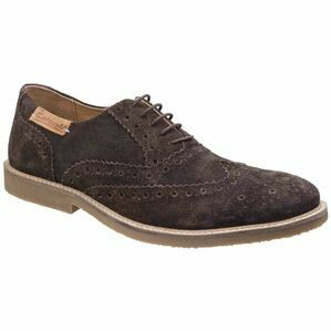 Cotswold Chatsworth Suede Wingtip Shoes in Brown