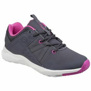 Cotswold Luckington Casual Shoe in Grey/Fuchsia/White