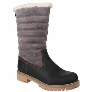 Cotswold Ripple Zip Up Boot in Black/Grey