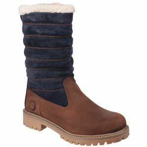 Cotswold Ripple Zip Up Boot in Brown/Blue