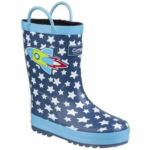 Cotswold Sprinkle Junior Wellington Boo in Dark Blue & White