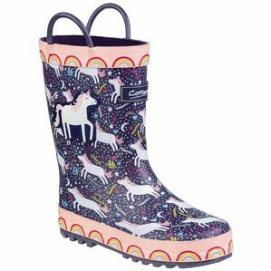 Cotswold Sprinkle Junior Wellington Boo in Purple/Pink & White