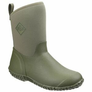 Muck Boots Muckster II Mid RHS Print Gardening Shoes in Moss Green/Tomatoes