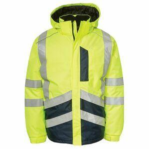Caterpillar HI-VIS Waterproof Jacket in Yellow/Navy