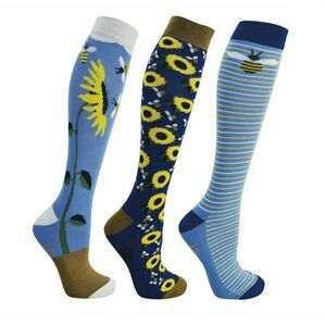 HyFashion Sunflower Riding Socks - Pack of 3