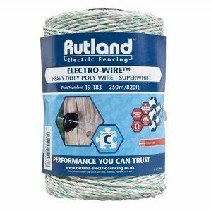 Rutland Super White Polywire - 250 metres