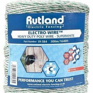 Rutland Polywire Super White Electro-Wire - 500 metres
