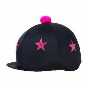 HyFASHION Glitter Star Print Bobble Hat Cover - 23499