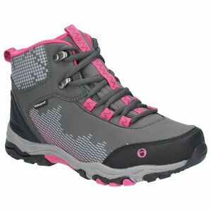 Cotswold Ducklington Lace Up Hiking Wat in Grey/Pink