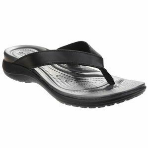 Crocs Capri V Flip Womens in Black/ Graphite