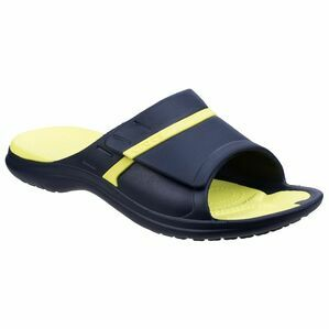 Crocs Modi Sport Slide in Navy/Yellow