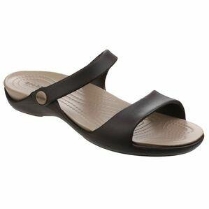 Crocs Cleo V Sandal in Espresso/Mushroom