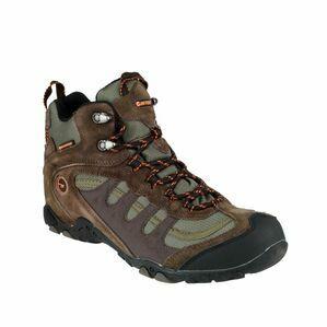 Hi-Tec Penrith Mid Boot Mens in CHOCOLATE/TAUPE/ORANGE