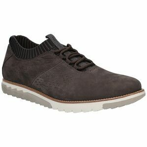 Hush Puppies Expert Knit Lace Up Trainer - Off Black