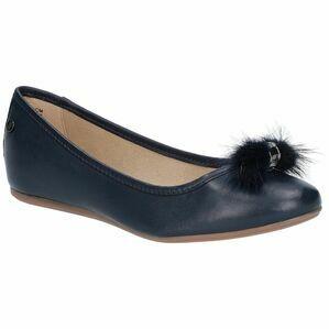 Hush Puppies Heather Puff Ballet Shoe in Navy