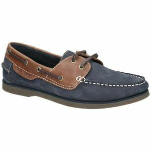 Hush Puppies Henry Classic Lace Up Shoe in Blue/Tan