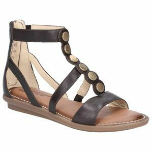 Hush Puppies Olive Gladiator Zip Up Sandal in Dark Brown