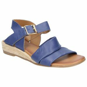 Hush Puppies Ruby Buckle Strap Wedge Sandal in Blue