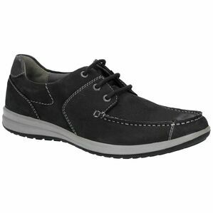 Hush Puppies Runner Moccasin Lace Up Shoe in Black