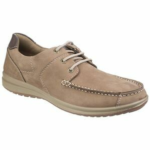 Hush Puppies Runner Moccasin Lace Up Shoe in Taupe