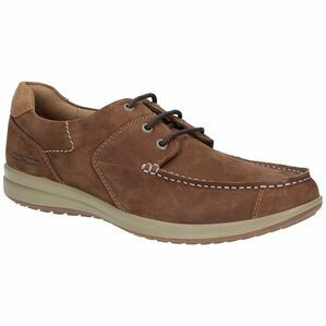 Hush Puppies Runner Moccasin Lace Up Shoe in Tan