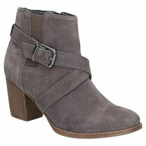 Hush Puppies Shilo Heeled Boot in Grey