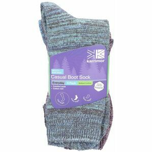 KARRIMOR 4PK CASUAL BOOT SOCKS EVERYDAY 6-11